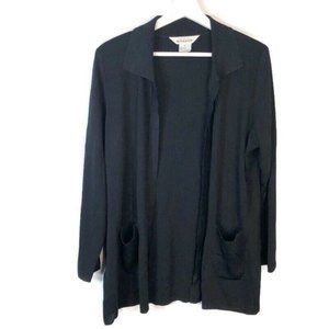 EXCLUSIVELY MISOOK Large Black Open Front Cardigan